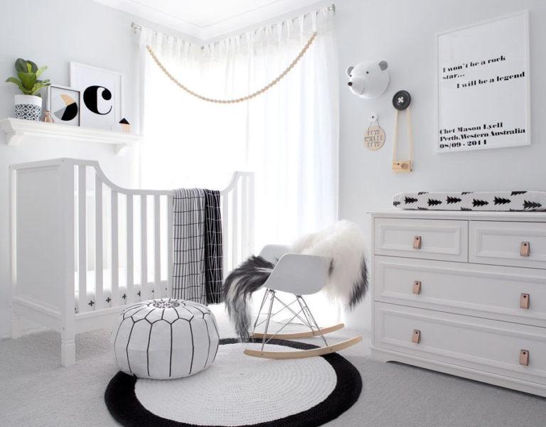 Quarto de bebê com estilo escandinavo (escolhendo as cores, móveis e mais)