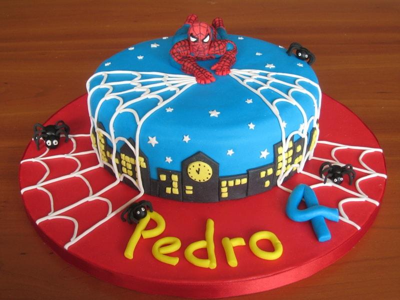 ideias de bolo homem aranha