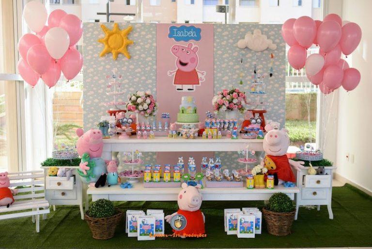 Ideias de convites para festa infantil Peppa Pig (e decoração)