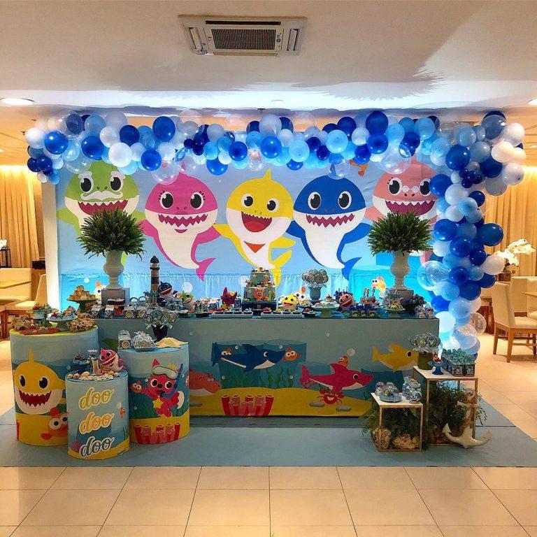 Decoração para festa Baby Shark