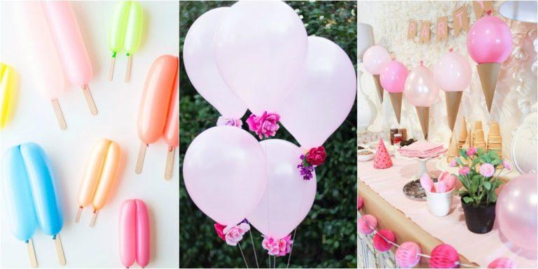 Decoração com balões simples e fácil de fazer