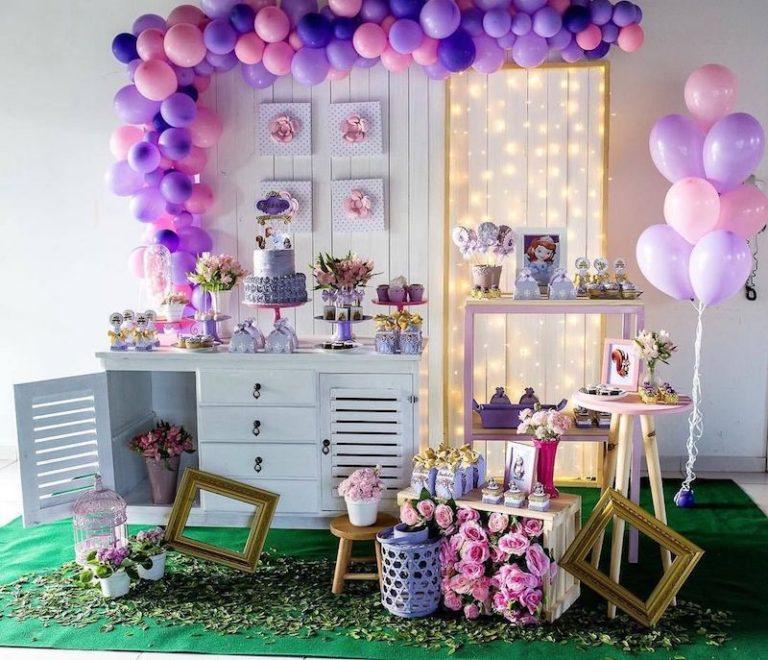 49 Ideias par festa Princesa Sofia (convites, bolo, mesa, lembrancinha)