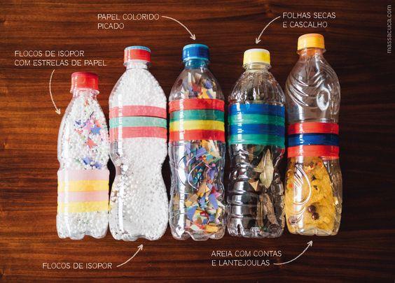 garrafas sensoriais
