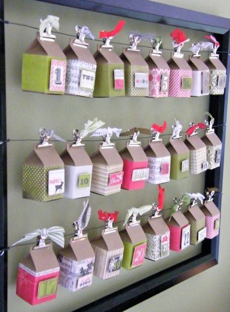 reciclando caixinhas para decoração de natal