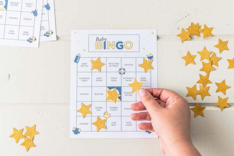 Bingo chá de bebê – ideias e cartela para imprimir!