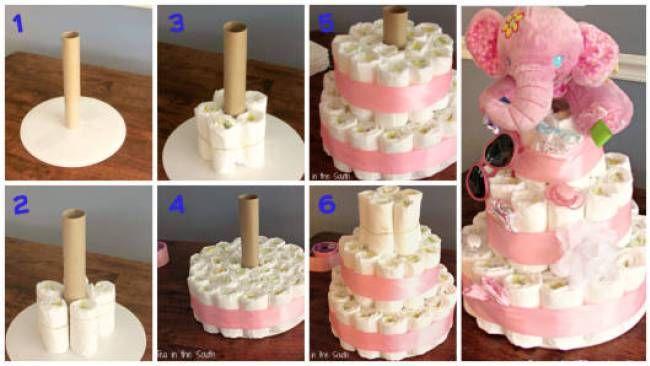 passo a passo para fazer um bolo de fraldas