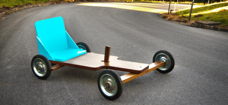 Faça você mesmo um carrinho de rolimã – as crianças vão adorar!