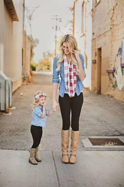 Looks de mãe e filha