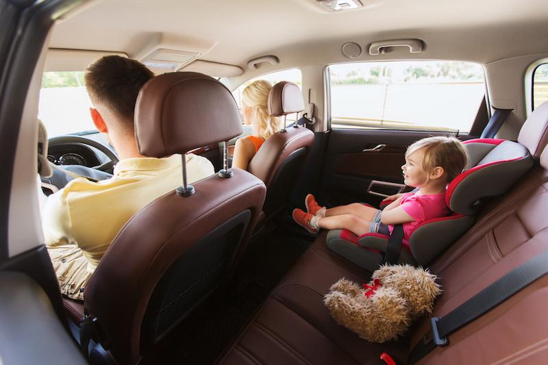 segurança nos carros com crianças