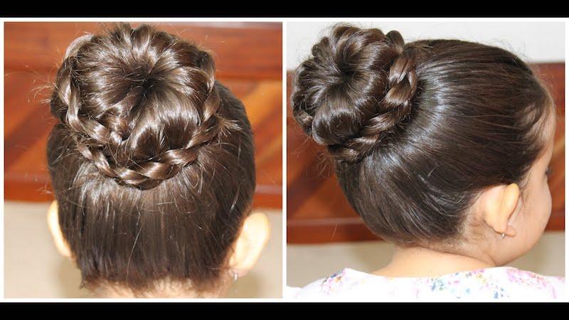 penteado com tranças e coques