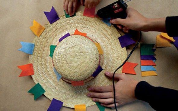 Chapéu na Decoração festa junina