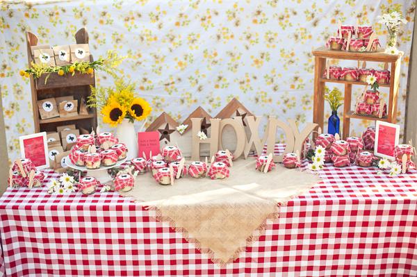 mesa Decoração festa junina