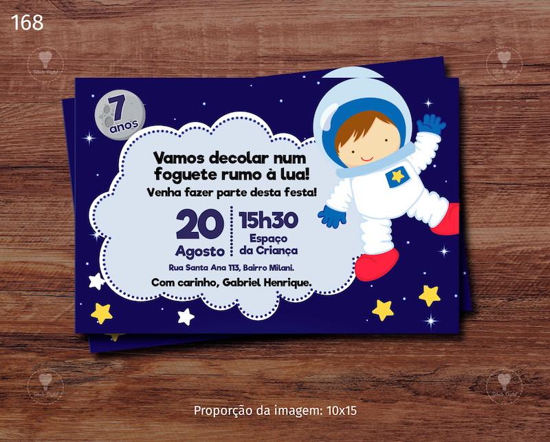 Festa de astronauta: convite