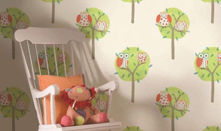 Como escolher papel de parede para  quarto infantil