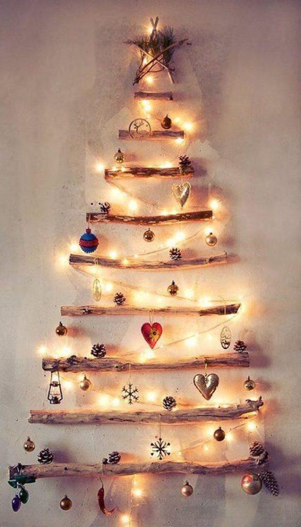 dica de árvore de natal de madeiras