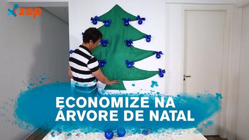 dica de árvore de natal com tnt