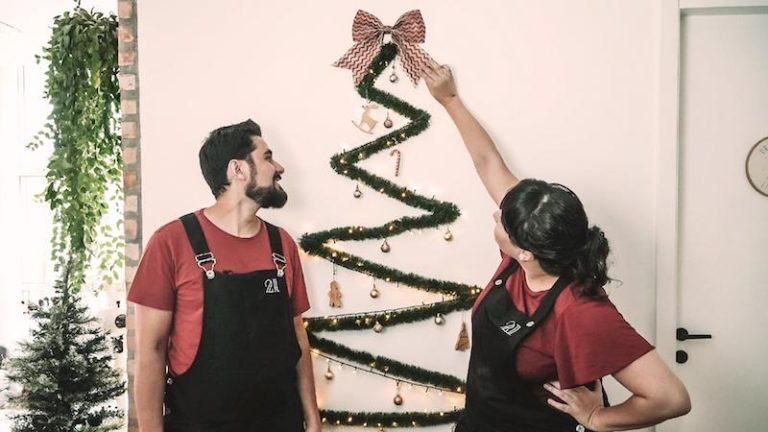Árvore de Natal na parede – ideias lindas e econômicas!