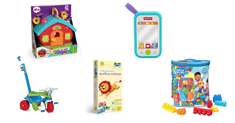 guia de presentes de natal para crianças de 0 a 2 anos