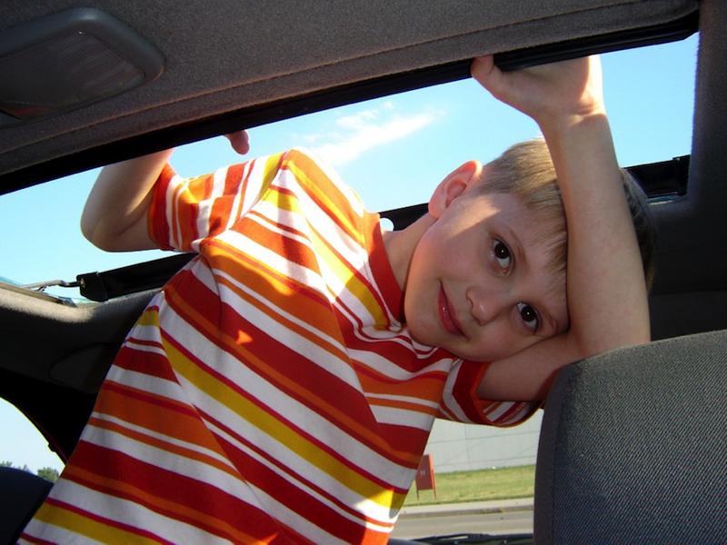 viagem de carro com crianças