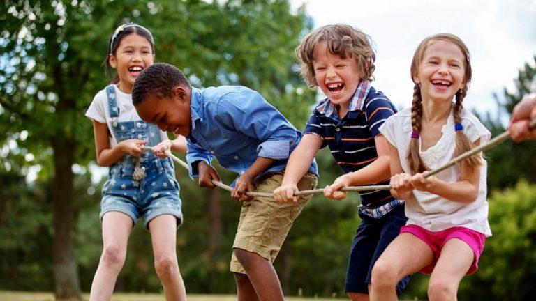 Exercícios ao ar livre para crianças
