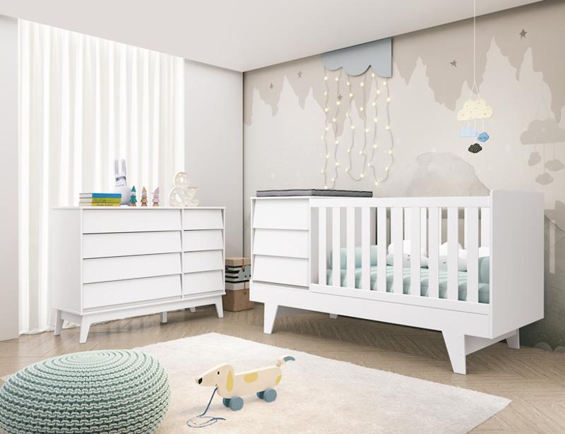 móveis para quarto de bebê minimalista
