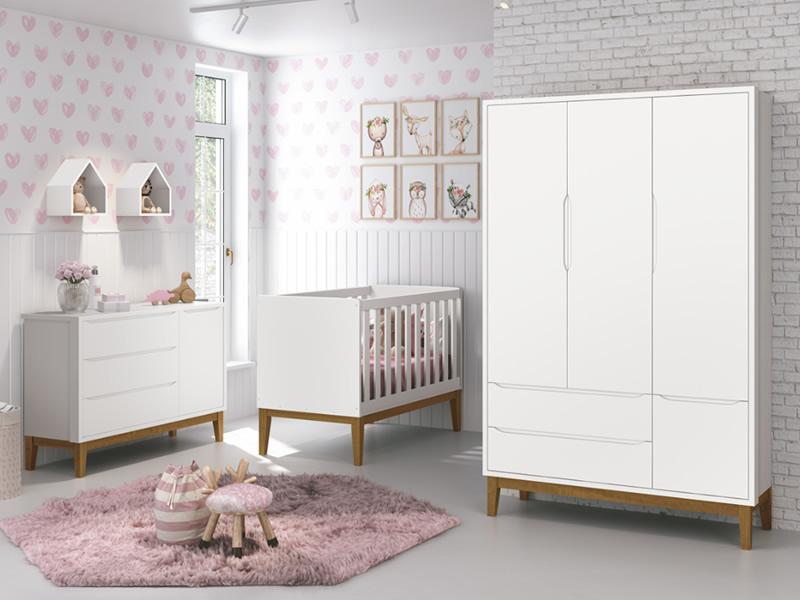 quarto de bebê românico